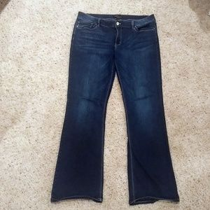 White House Black Market boot leg jeans size 14